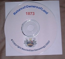 Return of Owners of Land 1873 CD