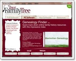 Genealogy Finder - FREEWARE